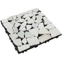 【貝力地板】太陽神DIY塑木止滑踏板 (30 x 30cm - 石紋 - 5片/箱)