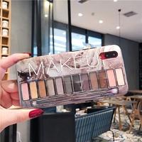Eye shadow box makeup cute phone case cover for oppo R15 PRO R9 R9S R11 R11S PLUS soft case ultra-th
