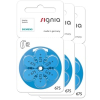 原廠助聽器電池* 3排 德國西門子 Signia助聽器電池 P675 【有效期限至2021.08】