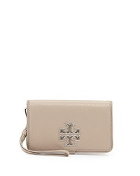 Tory Burch Britten Smartphone Wallet French Gray