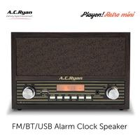 AC Ryan Retro Mini - FM/BT/AUX Alarm Clock Speaker w/Headphones output.