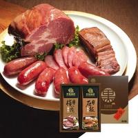 【野味食品】黑橋牌黑豬秘饌雙響禮盒D(黑豬梅花燒肉+黑豬石板烤肉)(附贈禮盒禮袋)(桃園出貨)