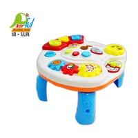 【Playful Toys 頑玩具】GU-3901 嬰兒音樂學習桌3901(兒童樂器 翻翻樂 齒輪轉動 嬰兒學習桌 方便收納 好攜帶 頑玩具)