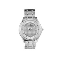VANDER Business Fashion Glass Quartz Watch Men's High-grade Watch (Silver) - intl