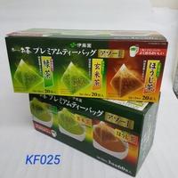 【日本進口】伊藤園~抹茶入三角茶包~綠茶,玄米茶,煎茶3種組合 $540 / 20袋*3種 KF025