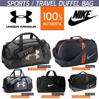 UNDER ARMOUR NIKE DUFFEL BAG FOR SPORTS TEAM GYM TRAVEL FASHION MEN WOMEN RECREATION TOURS