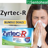 [ZYRTEC] *Bundle Deals* Zyrtec-R 10 tablets - Cold and Allergy symptoms relief
