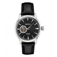(Seiko) Seiko Men s Presage Automatic Cocktail Time Black Dial Leather Band Dress Watch - Model:...