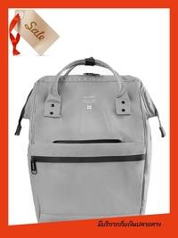 Hot sale กระเป๋าสะพายหลัง Anello MINI W-Proof Mini Classic Backpack-anello lining_OS-N017 สีเทา  กระเป๋าเป้หญิง กระเป๋าเป้หนัง กระเป๋าเป้ผ้า ของแท้ 100% ราคาถูก
