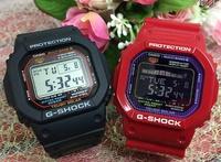 支持G打擊一對表G-SHOCK BABY-G G-LIDE一對手錶太陽能電波卡西歐2瓶一套g打擊嬰兒g dejitaruanadeji GW-M5610-1JF GWX-5600C-4JF人氣包免費的聖誕禮物 Jewelry time Murata of watch