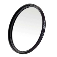 LingTud Black Universal Aluminum Alloy 62mm UV Protection Filter for Digital SLR Camera - intl