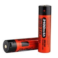 Folomov 2pcs 3400mAH 3.6V 18650 Micro USB Charging Discharging Battery & Mini Powerbank