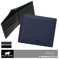 Braun buffel Small Gold Cow Wallet jimmy Series 10 Card Holder Male bf315 - 314