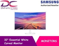 SAMSUNG 32 INCH Essential White Curved Monitor (LC32F391FWEXXS)