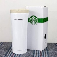 2016 Starbuck Stainless Steel Double layers Vacuum Thermos Coffee Travel Mug White - intl
