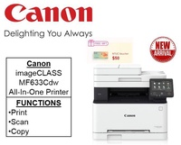 Canon imageCLASS MF633Cdw Color Laser Multi Function Printers ** Free $50 NTUC Voucher Till 24th Feb 2019 ** MF 633cdw MF633 cdw buldle with free gift  16GB flash Drive