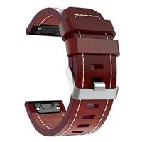 Leather Thread Watch Band Bracelet Strap 26mm for Garmin Fenix 3 Fenix 5X