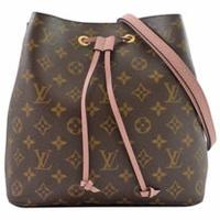 Louis Vuitton LV M44022 Neonoe 經典花紋肩斜兩用水桶包.粉_預購