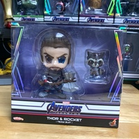 Cosbaby Thor and Rocket Avengers Endgame