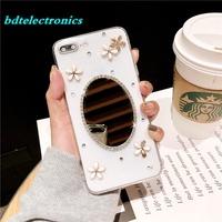 💋Vivo V9 Y81 Y71 Y69 Y55 Floral Mirror Soft Case