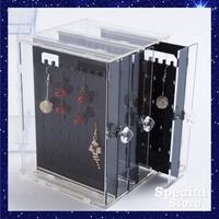 飾品展示盒 展示架 展示櫃 耳飾 吊飾 耳環 透明 收納盒 整理 盒 塑膠 壓克力