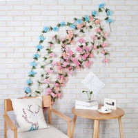 ↶SG↷Artificial Silk Flower Vine Hanging Garland Rattan Wedding Party Home Decor