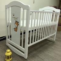 (廠商出清)台灣製造 嬰兒床 多功能 搖床 附成長型側板