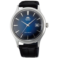 Orient Bambino Version 4 Japan Automatic Blue Dial Gent's Leather Watch SAC08004D0 AC08004D FC08004D0
