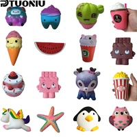 Ptuoniu Squishy Toy cake ice cream chocolate squishies Slow Rising  Soft Squeeze Cute Cell Phone Strap gift Stress children toys