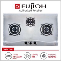 Fujioh ( FH-GS5530 SVSS ) 3 Burner Built-In Gas Hob with Stainless Steel Top