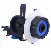 Quick Release Clamp DSLR Follow Focus FF with Adjustable Gear Ring Belt for 15mm Rod Rig 60D 600D 5D2 GH2 D7000-Digital gram