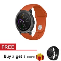 Soft Silicone Strap Band for Garmin Vivoactive 3 Music Smart Watch