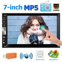 Win 7.0 Inch Touch 2DIN Car Stereo MP5 Player Bluetooth RDS AM FM Radio USB