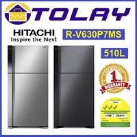 Hitachi RV630P7MS 510L 2 Door Fridge (Multi Colors Available)