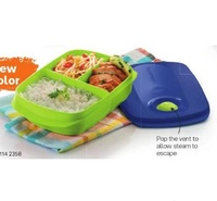 Tupperware Reheatable Divided Dish Lunch Box 1L Microwaveable with Pouch