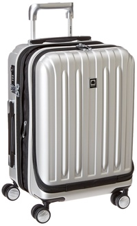 """DELSEY Paris Luggage Helium Titanium International Carry On Expandable Spinner Trolley-19"""", Silver"""