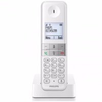 Philips D4501W/90 Single cordless phone w/ handsfree and keypad backlit