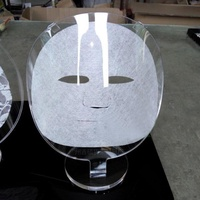 5Cgo 壓克力面膜展示架透明雙層夾袋面膜模型架面膜架化妝品展示架面膜布料資料多用途展示架彩粧美妝秀場-含稅開發票
