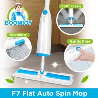 [OFFICIAL STORE] BOOMJOY F7 Spinning Twist Microfiber Flat Mop Functional Mop