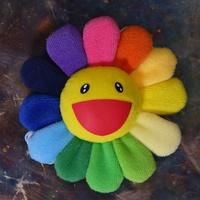 【村上隆】KAIKAI KIKI 彩色小花別針吊飾 《黃臉彩虹花瓣》[P.B.T]