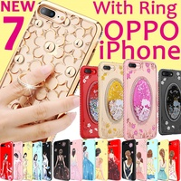 Brand Fashion Bling case Ring holder  cover for OPPO R11 OPPO R11 Plus OPPO R9S R9 iPhone 7 6 6s +