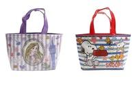 大賀屋 日貨 迪士尼 史努比 便當袋 午餐袋 手提袋 防水 保冷 保溫袋 長髮公主 小美人魚 J00012467 -69