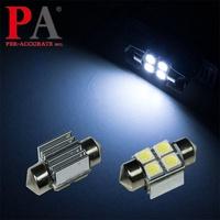 【PA LED】日系車 雙尖 28MM 散熱片 加強散熱 4晶 SMD LED 白光 室內燈 腳踏燈 牌照燈 行李箱燈