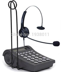 Call center office/business phone headset RJ9 plug headphones and dial pad wtih 2.5mm and RJ9 jack
