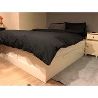(已預定)Ikea 收納白色雙人床架