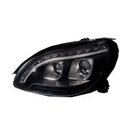 卡嗶車燈 Benz 賓士 S-CLASS W220 1998-2005 四門車 魚眼 大燈 黑