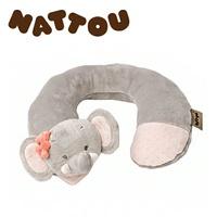 比利時【NATTOU】絨毛動物造型護頸枕 M號/愛黛兒 _好窩生活節