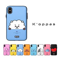 Official Kpop BTS BT21 Phone Case Cover Mirror Card Holder For Apple iPhone