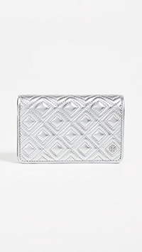 Tory Burch Fleming Metallic Slim Medium Wallet