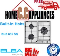 ELBA EHS 635 SB BUILD-IN HOB | 60 cm |3 burner| s/steel | battery ignition | wok stand |
